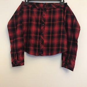 AKIRA Skirts - Button down flannel tie skirt